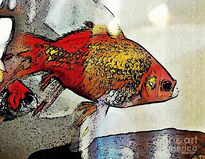 Photograph - Goldfish by Sarah Loft