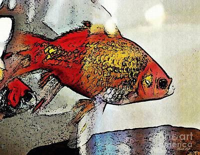 Photograph - Goldfish by Sarah Loft