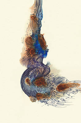 Goldfish - #ss14dw026 Art Print by Satomi Sugimoto