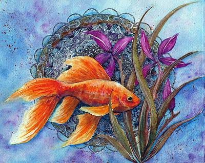 Good Luck Painting - Goldfish by Susy Soulies