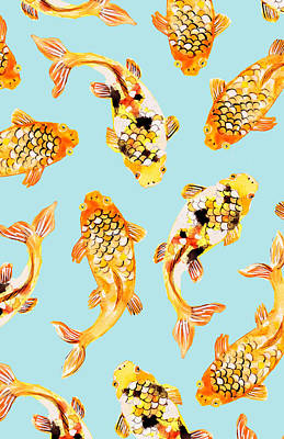 Animals Digital Art - Goldfish by Uma Gokhale