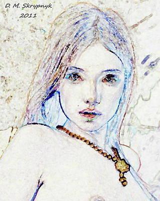 Digital Art - Goldie by David Skrypnyk