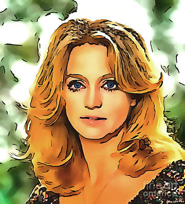 Drawing - Goldie Hawn Collection - 1 by Sergey Lukashin