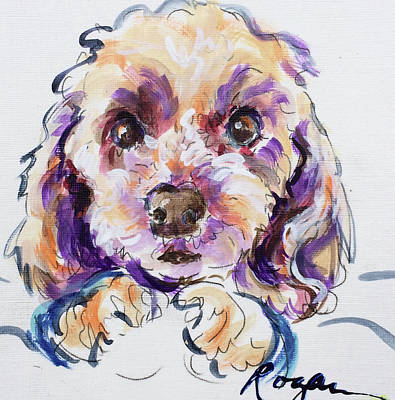 Painting - Goldie by Judy Rogan
