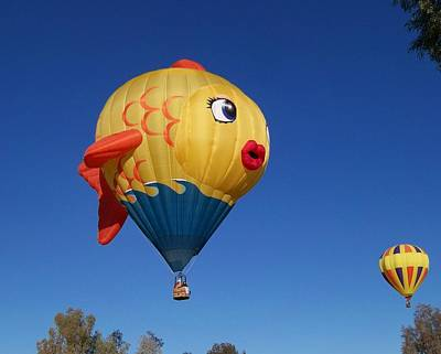 Hot Air Balloon Photograph - Goldie The Goldfish by Adrienne Wilson