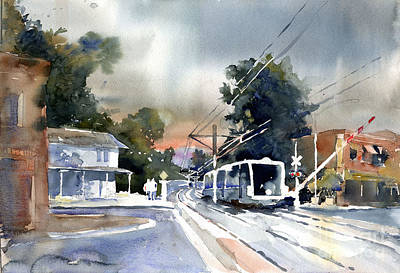 Painting - Goldline At Mission by John Byram