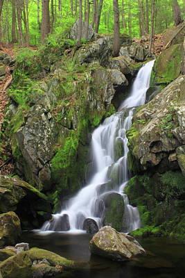Photograph - Goldmine Brook Falls  by John Burk