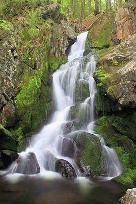 Photograph - Goldmine Brook Falls Western Massachusetts by John Burk