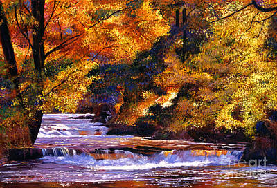 National Parks Painting - Goldstream River by David Lloyd Glover