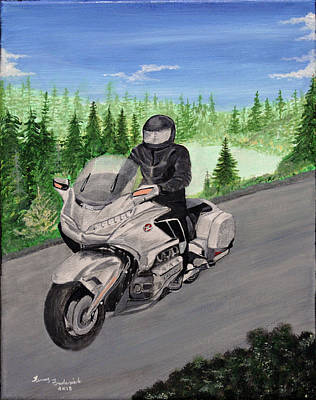 Painting - Goldwing by Terry Frederick
