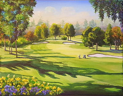 Painting - Golf 1 by Sandra Lett