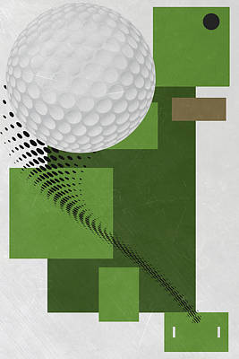 Us Open Mixed Media - Golf Art Par 4 by Joe Hamilton