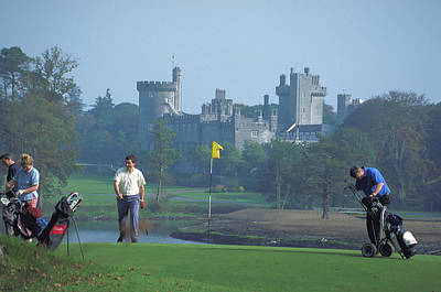 Golf At Dromoland Castle In Ireland Art Print by Carl Purcell