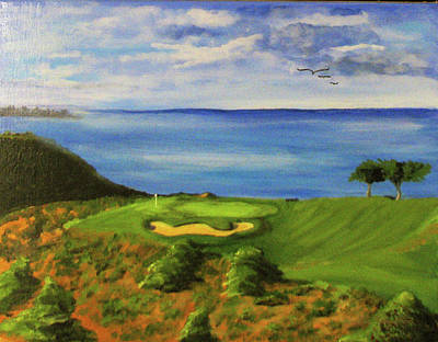 Painting - Golf At Torrey Pines by Bill Houghton