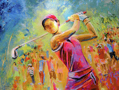 Painting - Golf Attitude by Miki De Goodaboom