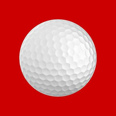 Golf Ball Art Print by Roger Smith
