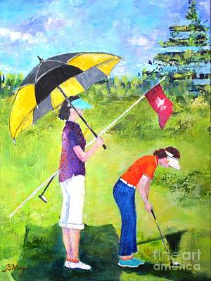 Painting - Golf Buddies #3 by Betty M M Wong