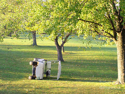 Golf Cart Accident Picture Art Print by Paul Velgos