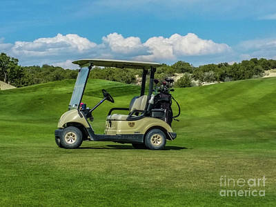 Photograph - Golf Cart by Tony Baca