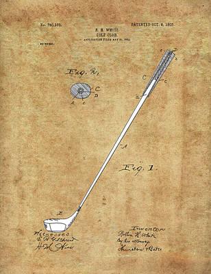 Digital Art - Golf Club Patent Drawing Vintage 3 by Bekim Art