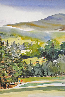 Sports Paintings - Golf Country by P Anthony Visco