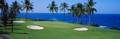 Kona Photograph - Golf Course At The Oceanside, Kona by Panoramic Images