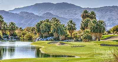Photograph - Golf Course Beautiful  Mountains by David Zanzinger