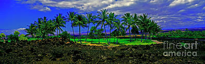 Photograph - Golf Course Green In Lava Maui by Tom Jelen