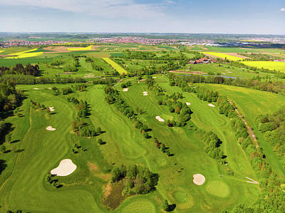 Photograph - Golf Course Green Landscape Aerial by Matthias Hauser