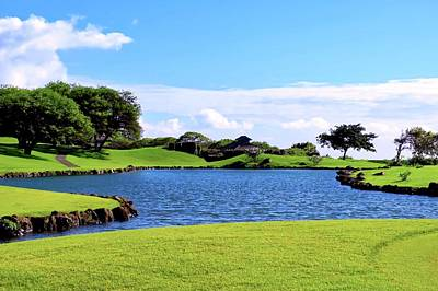 Photograph - Golf Course Lake In Maui by Kirsten Giving