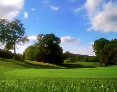 Golf Course Landscape Art Print