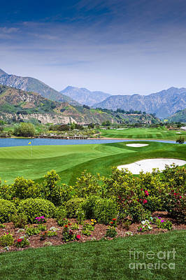 Photograph - Golf Course Mountains Beautiful by David Zanzinger