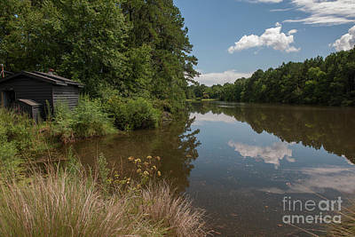Photograph - Golf Course Pond Reflections by Dale Powell
