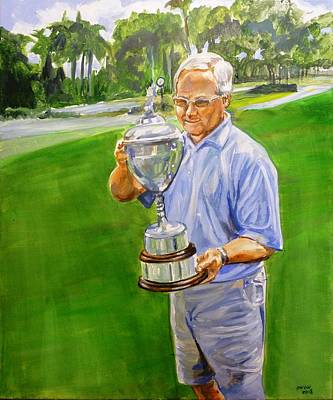 Painting - Golf Cup by Bryan Bustard