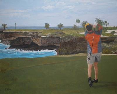 Golf Day Art Print by Betty-Anne McDonald