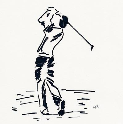 Us Open Drawing - Golf I by Winifred Kumpf