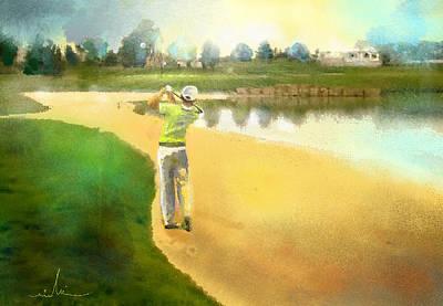 Sports Paintings - Golf in Club Fontana Austria 02 by Miki De Goodaboom