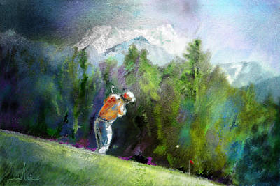 Art Miki Digital Art - Golf In Crans Sur Sierre Switzerland 02 by Miki De Goodaboom