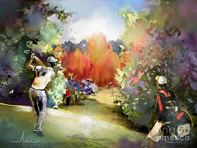 Sports Paintings - Golf in Gut Laerchehof Germany 02 by Miki De Goodaboom
