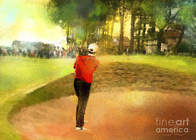 Sports Paintings - Golf in Scotland Saint Andrews 01 by Miki De Goodaboom