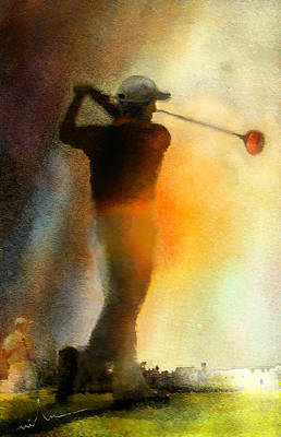 Sports Paintings - Golf in The Portugal Masters 01  by Miki De Goodaboom