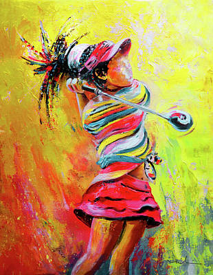 Painting - Golf Innocence by Miki De Goodaboom