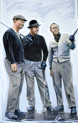 Painting - Golf Legends No 1 by Mark Robinson
