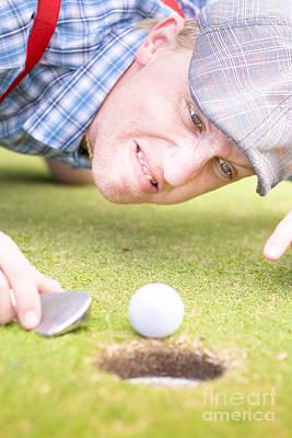 Golf Lunatic Art Print