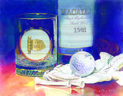 Scotch Painting - Golf Nap II by Cheryl Wooten