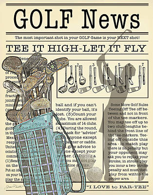 Digital Art - Golf News 2 by Jean Plout