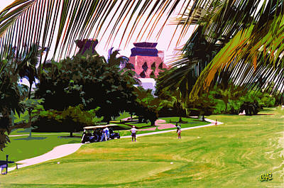 Sports Paintings - Golf of Mexico 1 by CHAZ Daugherty