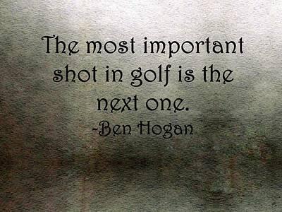 Golf Quote Art Print