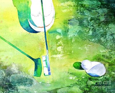 Painting - Golf Series - Finale by Betty M M Wong