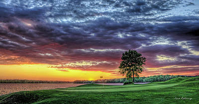 Georgia Plantation Photograph - Golf Sunset Number 4 The Landing Reynolds Plantation Golf Art by Reid Callaway